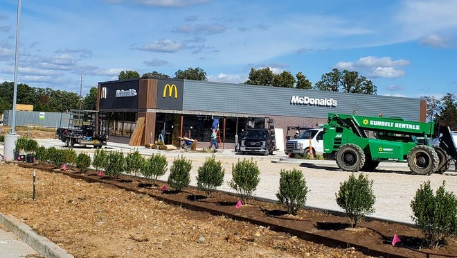 A view of the new McDonalds location on KK.
