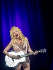 "Dolly Parton performs at the LeConte Center in Pigeon Forge as part of her ""Pure & Simple"" tour on Tuesday, Nov. 15, 2016."