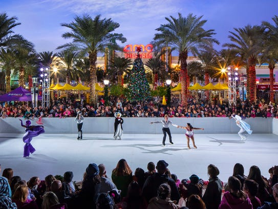 The Westgate Ice Rink is open during Thanksgiving weekend