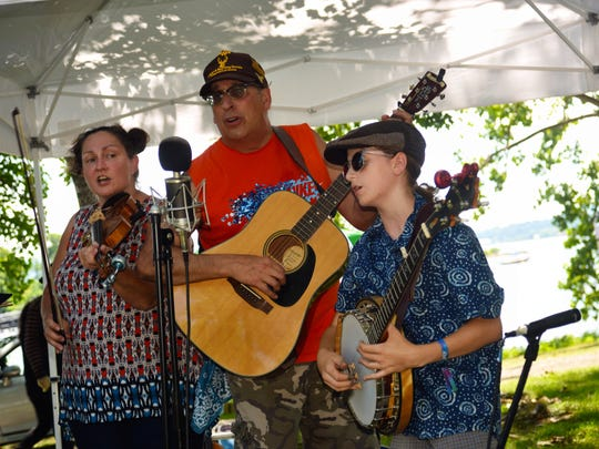 The band G. Rockwell & the Still River Ramblers of Connecticut perform at the Beacon Sloop Corn Festival Sunday at Pete and Toshi Seeger Riverfront Park in the City of Beacon.