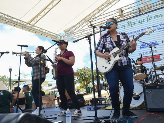 Local band, The Dolls, perform during the University of Guam's 50th Charter Day in Mangilao on March 13, 2018.