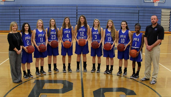 The Polk County girls basketball team.