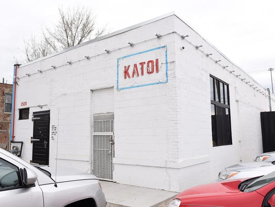 The simple cinder-block exterior covers the Katoi restaurant