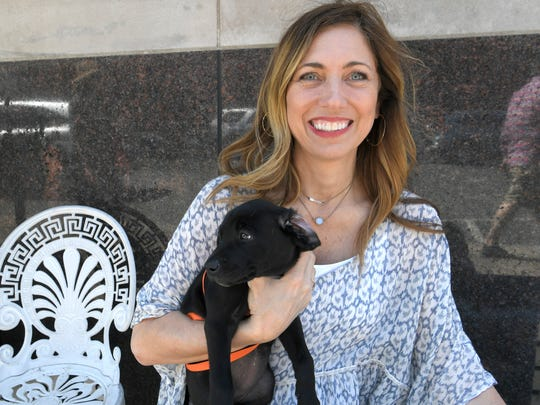 Williamson County Animal Center's new director Ondrea Johnson was on hand for the center's Pup Meetup at the visitor center on Friday, April 13, 2018.