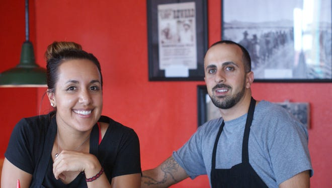 Adriana Zizumbo and Lawrence Haddad, owners of the Borderland Café in Columbus.