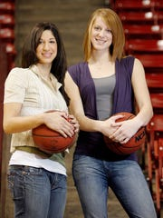 Emily Westerberg, left, and Aubree Johnson, were an