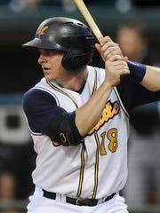 Montgomery Biscuits batter Stephen Vogt plays against