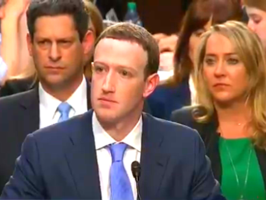 Mark Zuckerberg testified before a joint session of the Senate Judiciary Committee and the Senate Commerce, Science, and Transportation.