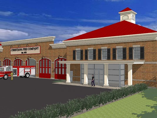 christiana fire station rendering