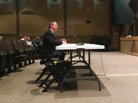 Red Lion Area School District Superintendent Scott Deisley addresses a committee of lawmakers about PlanCon on Monday, Feb. 13, 2017.