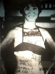 Judy Bishop, a live menu girl at Dennis' Truck Stop