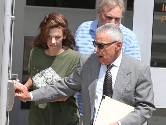 Laura Rideout leaves Monroe County Jail on Friday,