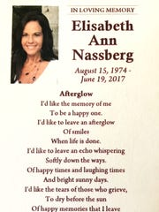 The memorial poem for Elisabeth Nassberg, the owner