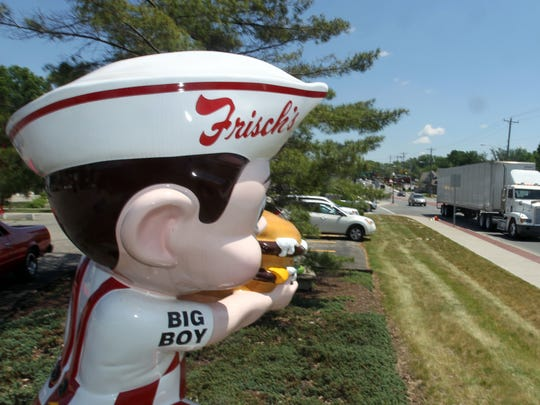 The Frisch's Big Boy figurine stands on Wooster Pike in front of  the Frisch's Mainliner in Fairfax.