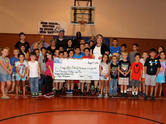 United Way of Carlsbad and South Eddy County presented a $10,000 donation to Boys and Girls Club of Carlsbad.