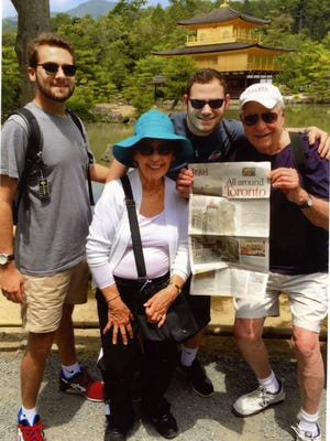 Exploring Japan with grandsons