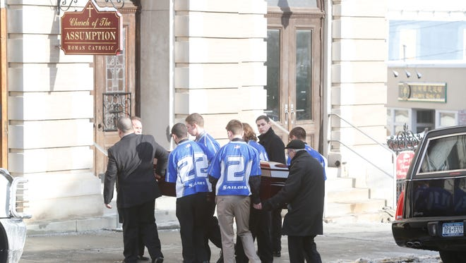 """Funeral services was held for Tyler """"Ty"""" Seger, 19, at the Church of the Assumption in Peekskill on Feb. 4, 1014, who died of suspected heroin overdose January 13.   Seger was a former member of the Hendrick Hudson High School lacrosse team."""