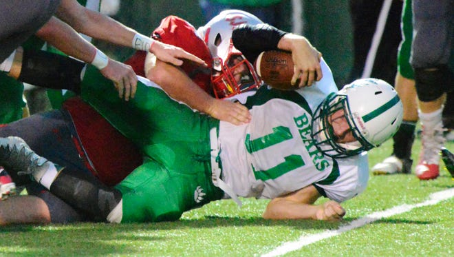 Margaretta's Logan Graffin had 262 yards on the ground and 139 more through the air Saturday in a victory over SJCC.