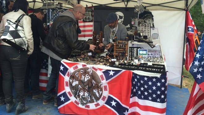 American images are popular among independent vendors at the Euro Fest.