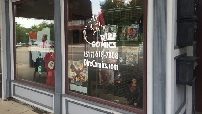 Dire Comics, 213 E. Grand River Ave., is Howell's first comic book store