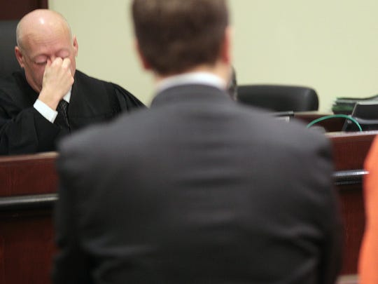Kentucky Circuit Judge David Tapp's frustration in dealing with repeat drug offenders sometimes shows when he presides at hearings in his court, as it did here in Pulaski County. Tapp advocates the use of the drug Vivitrol, which blocks the opioid receptors in the brain and prevents addicts from getting high from heroin or prescription drugs, as one way of treating addicts.