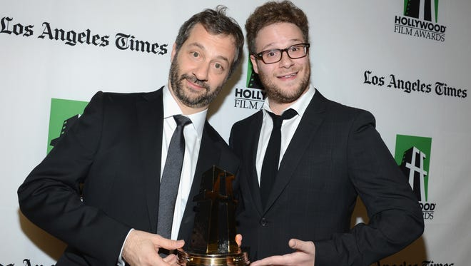 Judd Apatow (left) and Seth Rogen.