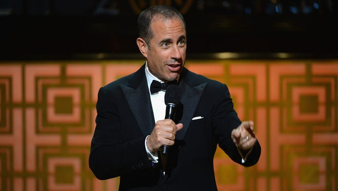 """Jerry Seinfeld speaks onstage at Spike TV's """"Don Rickles: One Night Only"""" on May 6, 2014 in New York City."""