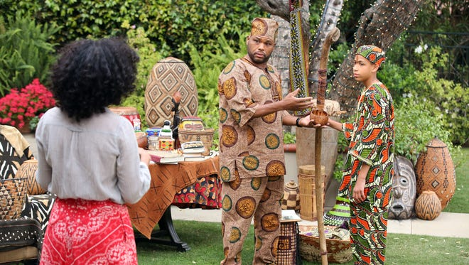 Anthony Anderson plays Dre, an affluent, suburban African-American dad who fears his family may have become just a bit too assimilated. (From left: Tracee Ellis Ross, Anderson and Marcus Scribner)