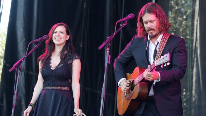 John Paul White and Joy Williams of The Civil Wars perform at  Austin City Limits Music Festival in 2012.