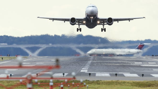 On rare occasions, planes may be seen taking off and landing in opposite directions as airports adjust for shifting winds.