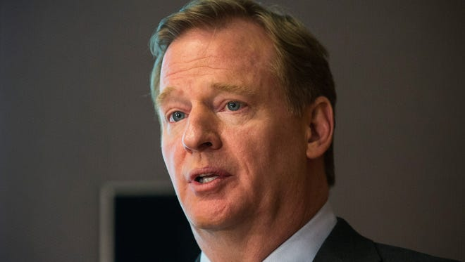 Commissioner Roger Goodell announces the 16 winners of the first round of the $20M Head Health Challenge, a research grant created by the NFL and GE to better study and treat traumatic brain injuries.