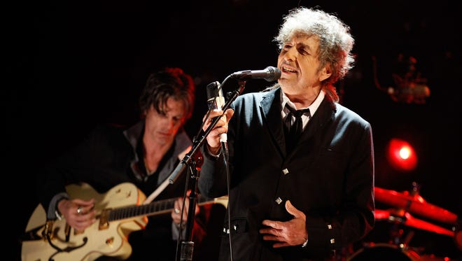 Bob Dylan performs onstage during the 17th Annual Critics' Choice Movie Awards held at the Hollywood Palladium on January 12, 2012, in Los Angeles.