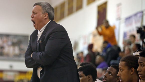 Mount Vernon coach Bob Cimmino reacted strongly to a report March 5, 2014, that there were racial tweets made by Mahopac players after their game with Mount Vernon on Feb. 27 at the County Center.