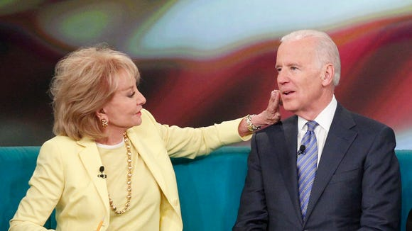 "Vice President Biden with Barbara Walters on ""The View"" earlier this week."