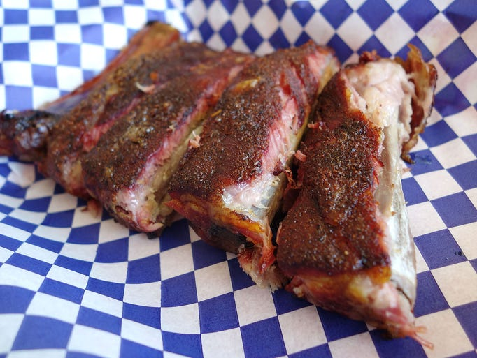 St. Louis style ribs at Andrew's BBQ in Tempe.