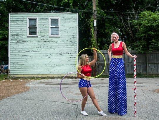 July 4, 2017 - Ellen Phillips, left, looks at Jennie