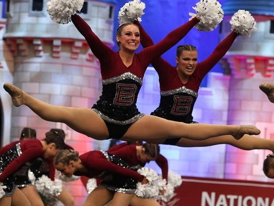 The Bearden High dance team performs during the National