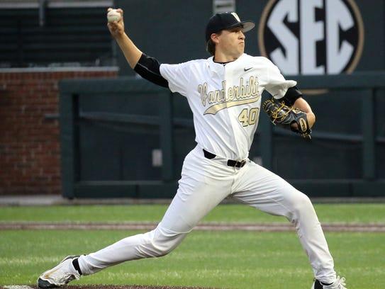 Vanderbilt pitcher and former Riverdale standout Collin