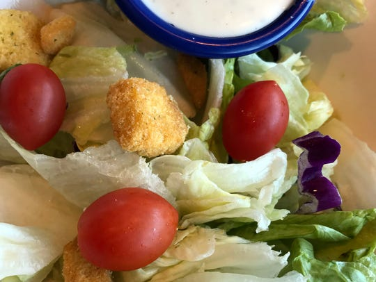 Side salads are fresh and a perfect compliment to the