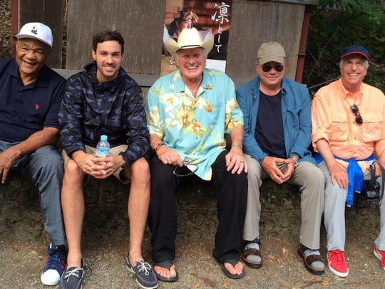 Jeff Dye, second from left, co-stars on the NBC show
