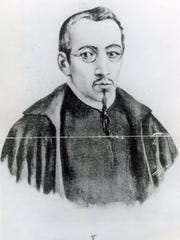 This drawing of Dr. Carlos de Siguenza y Gongora is