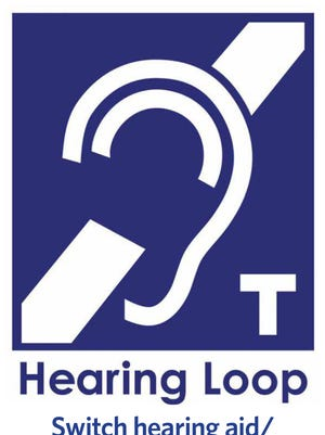 Sign for hearing loop station