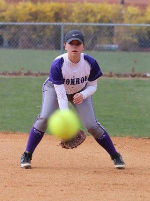 Monroe's Erica Rubino is the Home News Tribune Softball Player of the Week.