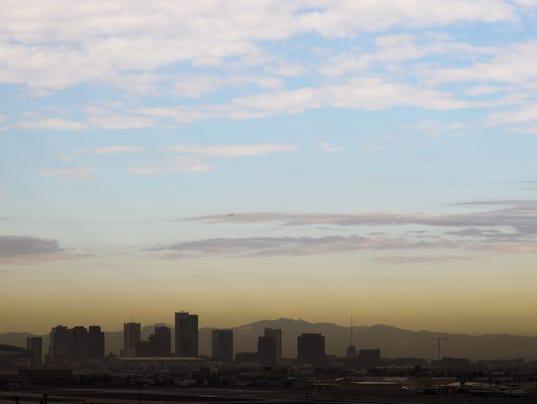Brown haze