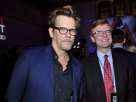 HOLLYWOOD, CA - NOVEMBER 17:  (L-R) Actor Kevin Bacon