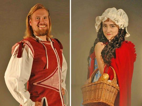 Joseph York (The Prince) and Gina Teschke (Little Red)