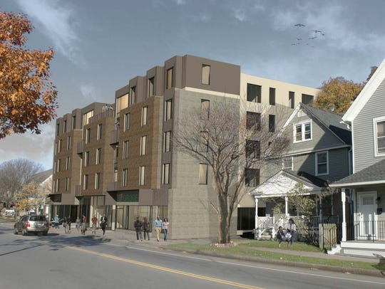 A controversial proposal to build a five-story apartment