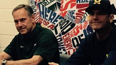 Mark Dantonio and Jim Harbaugh