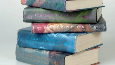 450 million copes of Harry Potter books have been sold since 1997. That's the same as 90 percent of all books sold in 2013.