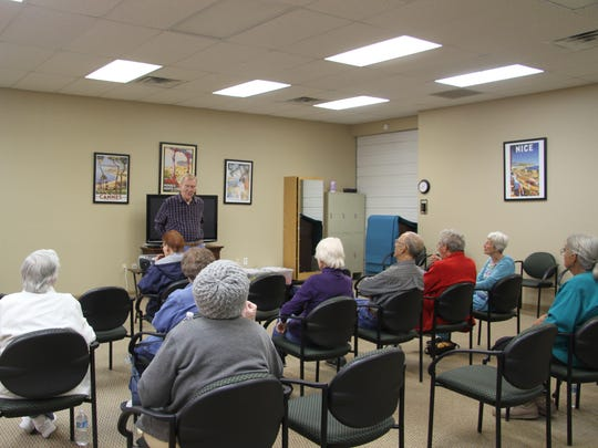 Roger Marks holds music programs every month. This month's program celebrate Valentine's Day.